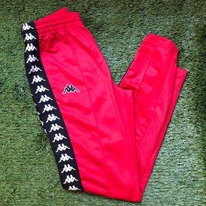 Kappa track pants red